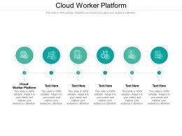Cloud Worker Platform Ppt Powerpoint Presentation Portfolio Gridlines Cpb