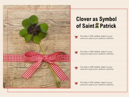 Clover As Symbol Of Saint Patrick