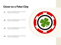 Clover On A Poker Chip