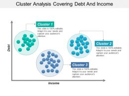 Cluster Analysis Covering Debt And Income