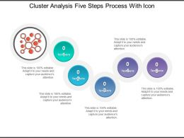 Cluster Analysis Five Steps Process With Icon