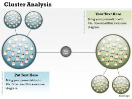 Cluster Analysis Powerpoint Template Slide