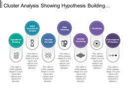 Cluster Analysis Showing Hypothesis Building Variable Convergence Data Cleaning