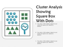 Cluster Analysis Showing Square Box With Dots