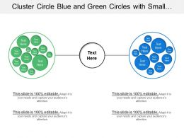 Cluster Circle Blue And Green Circles With Small Circles