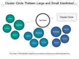 Cluster Circle Thirteen Large And Small Interlinked Circles