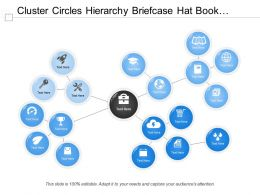 Cluster Circles Hierarchy Briefcase Hat Book Award Speedometer