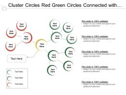 Cluster Circles Red Green Circles Connected With Yellow Circle