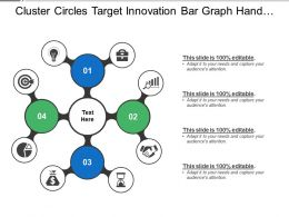 Cluster Circles Target Innovation Bar Graph Hand Shake