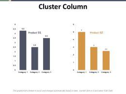 Cluster Column Ppt Summary Graphics Tutorials