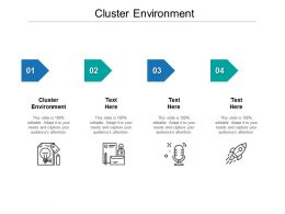 Cluster Environment Ppt Powerpoint Presentation Visual Aids Example File Cpb