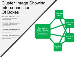 Cluster Image Showing Interconnection Of Boxes