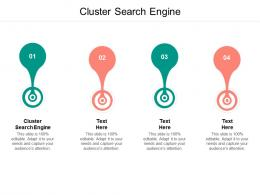 Cluster Search Engine Ppt Powerpoint Presentation Layouts Background Designs Cpb