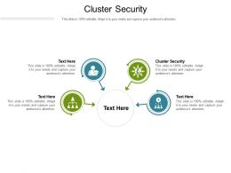 Cluster Security Ppt Powerpoint Presentation Infographic Template Graphic Images Cpb