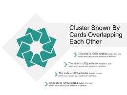 Cluster Shown By Cards Overlapping Each Other