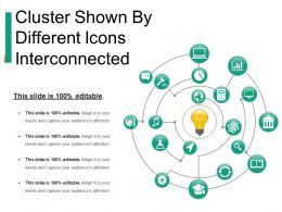 Cluster Shown By Different Icons Interconnected