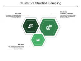 Cluster Vs Stratified Sampling Ppt Powerpoint Presentation Ideas Slides Cpb