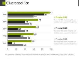Clustered Bar Powerpoint Presentation Templates