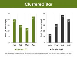 Clustered Bar Powerpoint Slide Background
