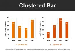 Clustered Bar Powerpoint Slide Background Picture