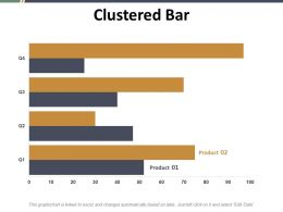 Clustered Bar Ppt Summary Graphics Template