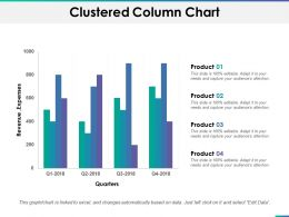 Clustered Column Chart Ppt Summary Design Templates