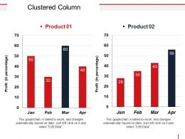 Clustered Column Good Ppt Example