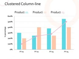 Clustered Column Line Chart Finance Marketing Management