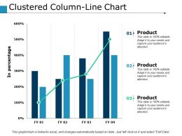 Clustered Column Line Chart Finance Ppt Powerpoint Presentation File Outline