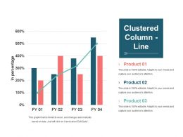 Clustered Column Line Example Ppt Presentation