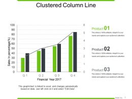 Clustered Column Line Powerpoint Images