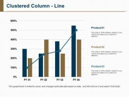 Clustered Column Line Powerpoint Layout