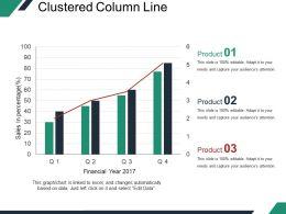 Clustered Column Line Powerpoint Slide Ideas