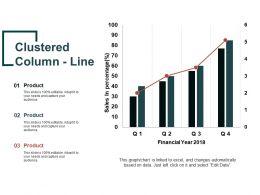 Clustered Column Line Powerpoint Slide Influencers