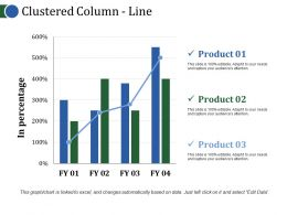 Clustered Column Line Ppt Background Template