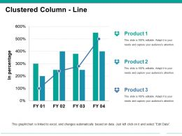 Clustered Column Line Ppt Example