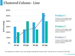 Clustered Column Line Ppt Examples Slides