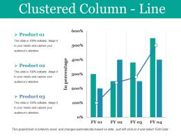 Clustered Column Line Ppt Model