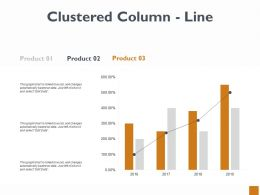 Clustered Column Line Ppt Powerpoint Presentation Model Skills