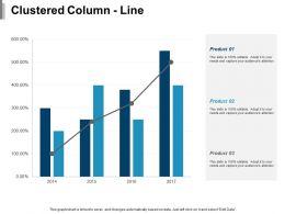 Clustered Column Line Ppt Show Background Designs