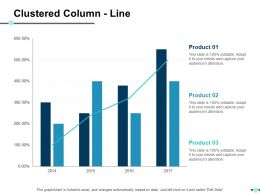 Clustered Column Line Ppt Show Slide