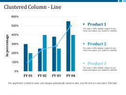 Clustered Column Line Ppt Slides Format Ideas