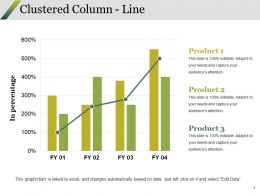 Clustered Column Line Ppt Styles Structure