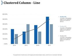 Clustered Column Line Ppt Summary Background Images