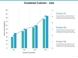Clustered Column Line Ppt Summary Master Slide