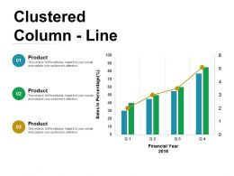 Clustered Column Line Ppt Visual Aids Professional