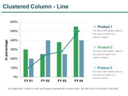 Clustered Column Line Presentation Portfolio