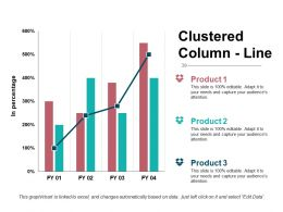 Clustered Column Line Presentation Powerpoint