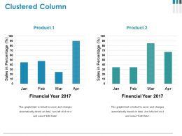 Clustered Column Powerpoint Presentation Templates