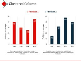 Clustered Column Powerpoint Slides Design